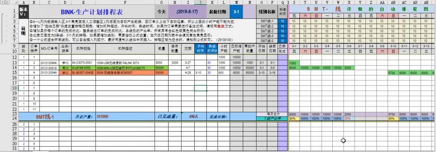 自动生产排程--SMT(0311多线体07版)